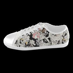 Flowers Women's Canvas Shoes (Model 016)