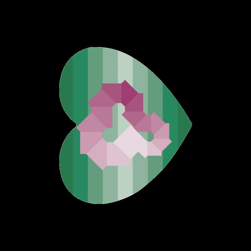 Square Spectrum (Magenta) Heart-shaped Mousepad