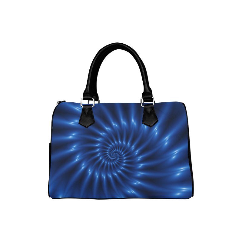 Glossy Blue Spiral Handbag Boston Handbag (Model 1621)