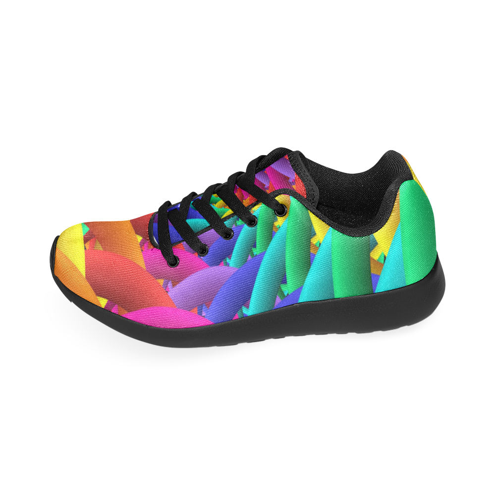 Psychedelic Rainbow Spiral Men's Running Shoes Men's Running Shoes (Model 020)