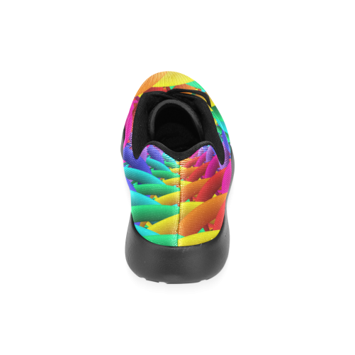 Psychedelic Rainbow Spiral Running Shoes Women's Running Shoes (Model 020)
