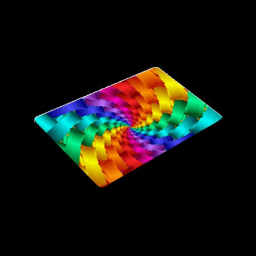 "Psychedelic Rainbow Spiral Doormat 30""x18"""
