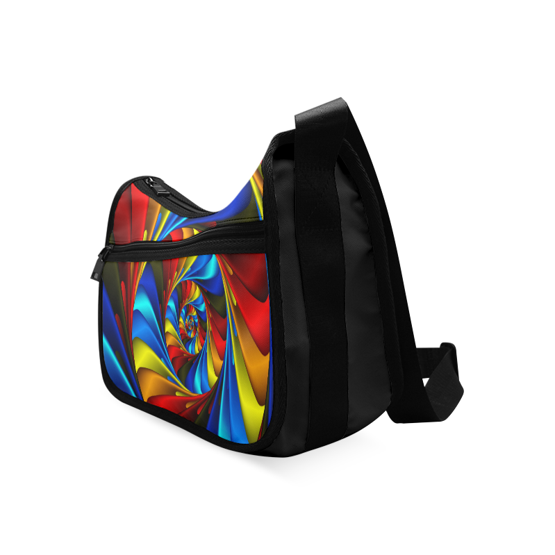 Colorful Spiral Fractal Crossbody Bags (Model 1616)