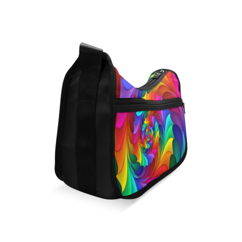 Psychedelic Rainbow Spiral Crossbody Bags (Model 1616)