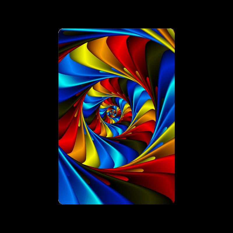 "Psychedelic Rainbow Spiral Doormat 24"" x 16"""