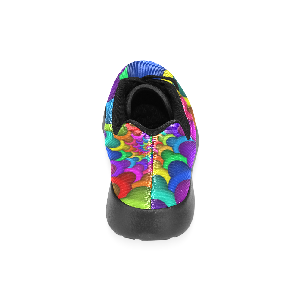 Psychedelic Rainbow Spiral Women's Running Shoes (Model 020)