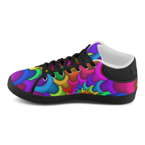 Psychedelic Rainbow Spiral Men's Chukka Canvas Shoes (Model 003)