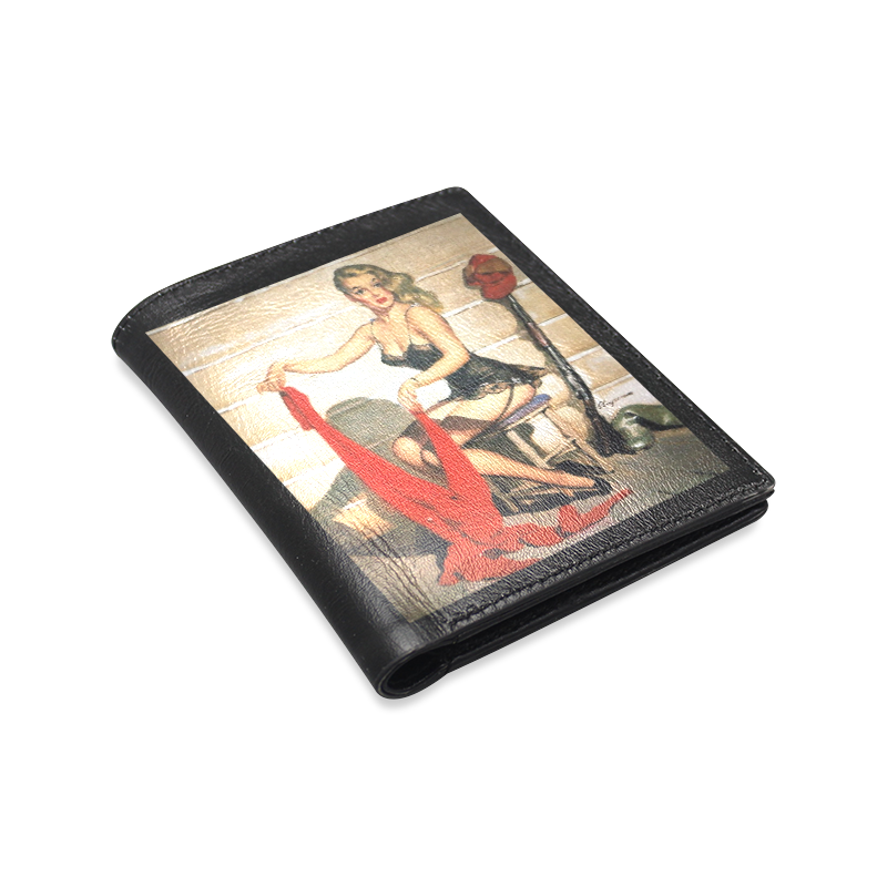 Sexy Pinups Men's Leather Wallet (Model 1612)