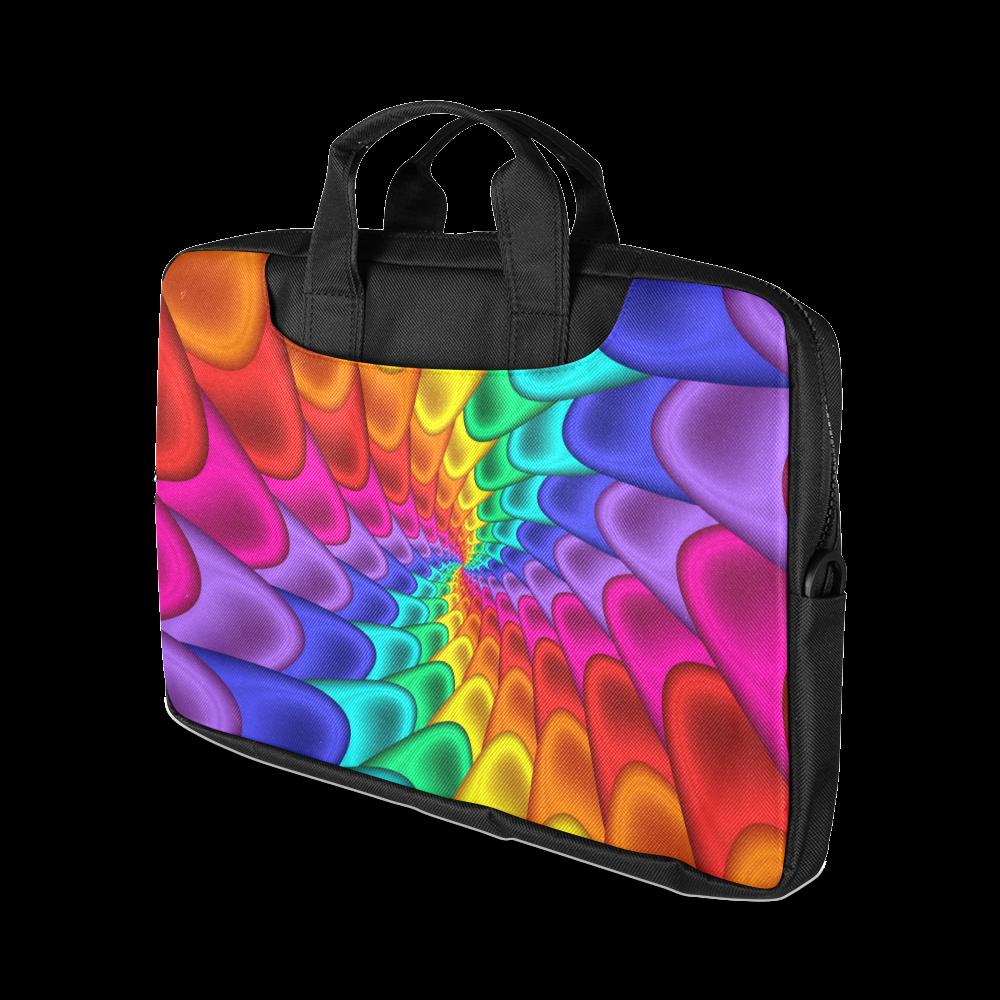 "Psychedelic Rainbow Spiral Macbook Air Laptop Bag 13"" Macbook Air 13""(Two sides)"