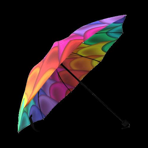Psychedelic Rainbow Spiral Umbrella Foldable Umbrella (Model U01)