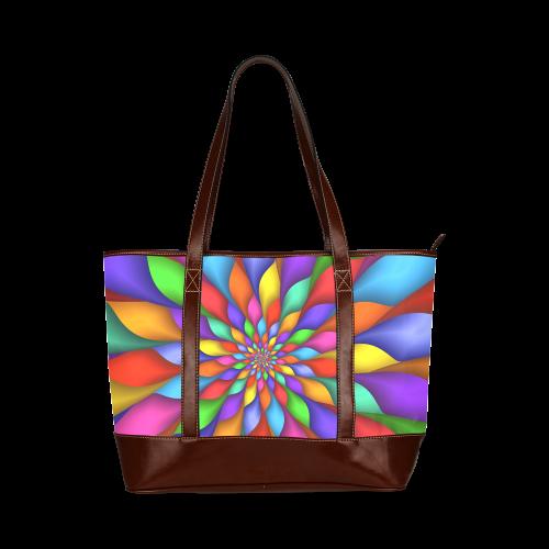 "Psychedelic Rainbow Spiral Tote Bag 11"" Tote Handbag (Model 1642)"