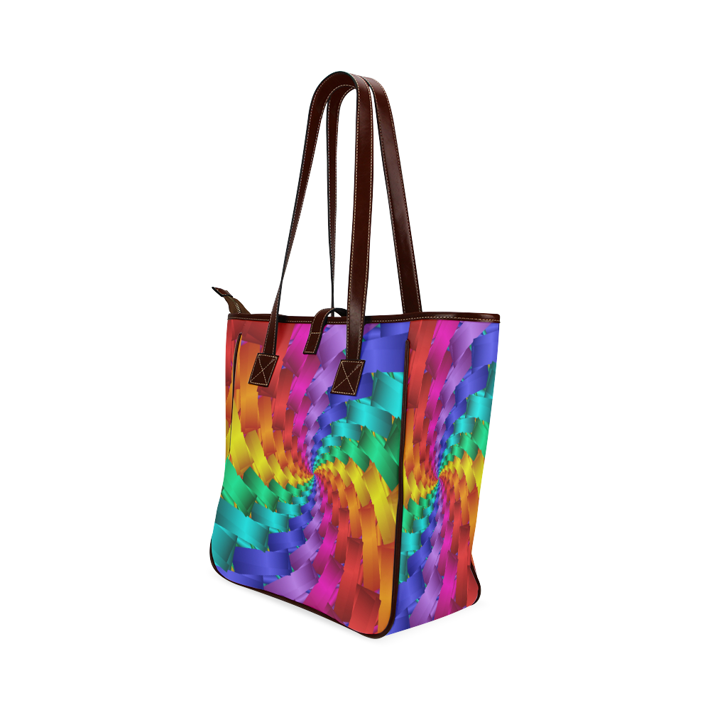 "Psychedelic Rainbow Spiral Tote Bag 13"" Classic Tote Bag (Model 1644)"