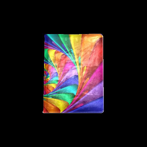 Psychedelic Rainbow Spiral NoteBook B5 Custom NoteBook B5
