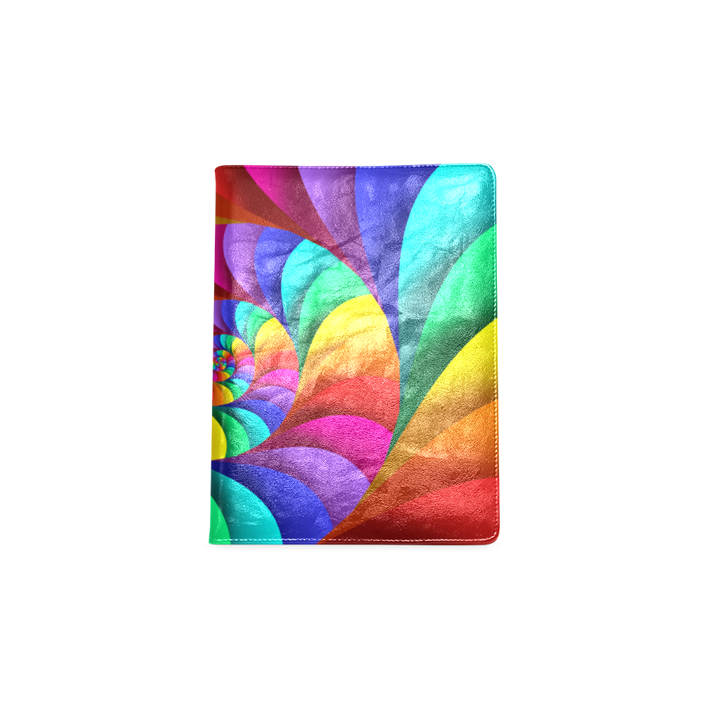 Psychedelic Rainbow Spiral NoteBook B5 Custom NoteBook B5