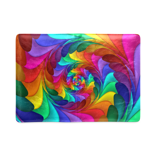 Psychedelic Rainbow Spiral NoteBook A5 Custom NoteBook A5