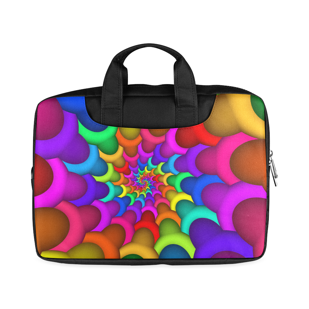 "Psychedelic Rainbow Spiral Macbook Air 11""(Two sides)"