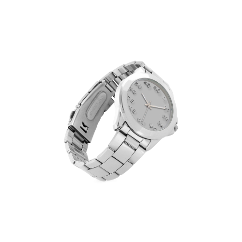 Conceptual Dice Clock Unisex Stainless Steel Watch(Model 103)