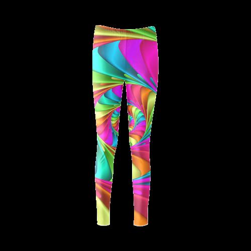 Psychedelic Rainbow Spiral Cassandra Women's Leggings (Model L01)
