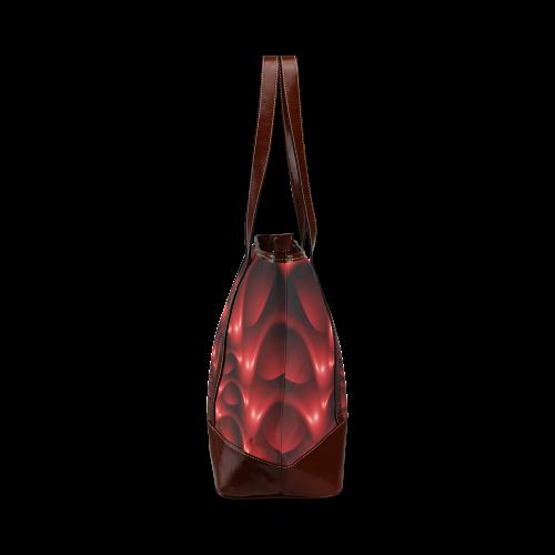 Plum Red Glossy Spiral Tote Handbag (Model 1642)