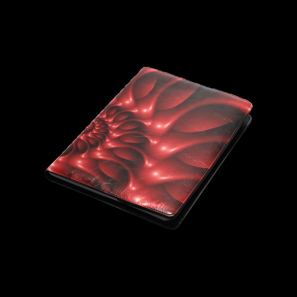 Plum Red Glossy Spiral Custom NoteBook B5