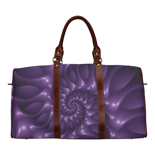 Purple Glossy Spiral Waterproof Travel Bag/Large (Model 1639)