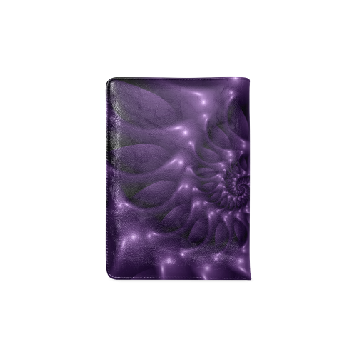 Purple Glossy Spiral Custom NoteBook A5