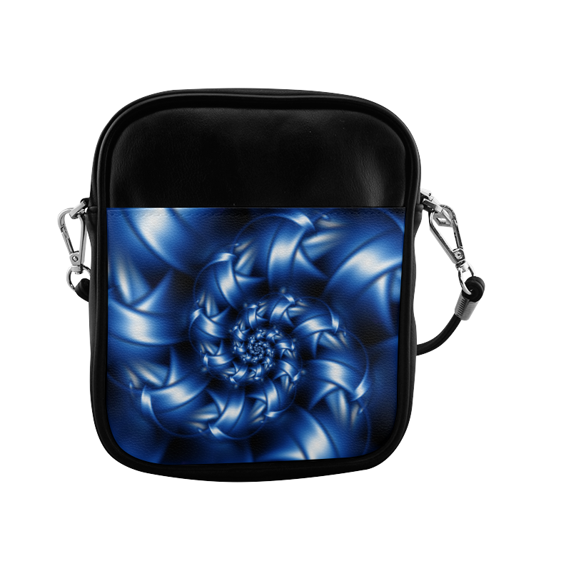 Glossy Blue Spiral Sling Bag (Model 1627)