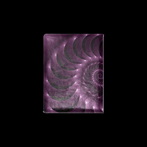 Plum Purple Glossy Spiral Custom NoteBook B5