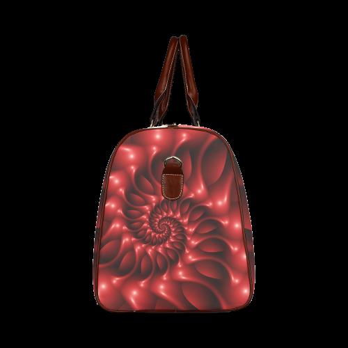 Plum Red Glossy Spiral Waterproof Travel Bag/Large (Model 1639)