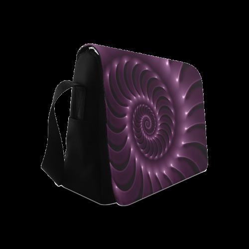 Plum Purple Glossy Spiral Messenger Bag (Model 1628)