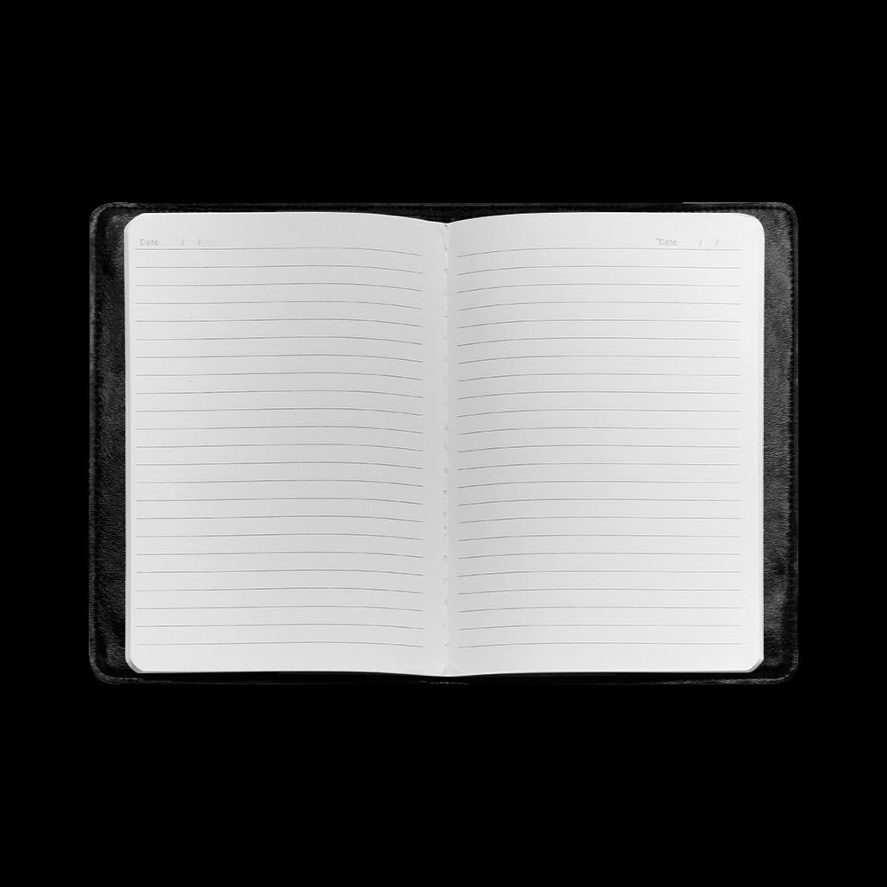 Plum Purple Glossy Spiral Custom NoteBook A5