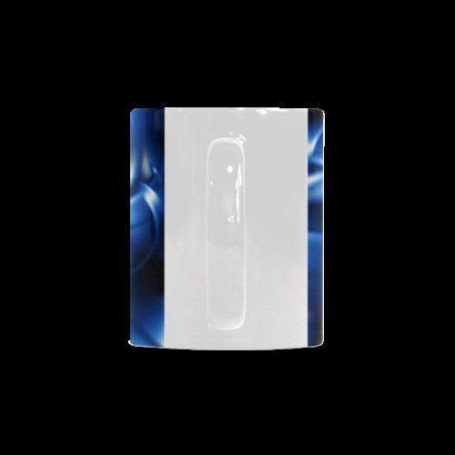 Glossy Blue Spiral White Mug(11OZ)