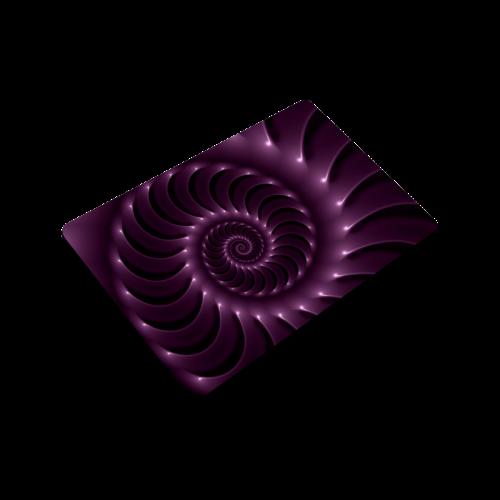 "Glossy Plum Purple Spiral Doormat 24"" x 16"""
