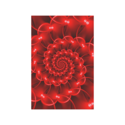 "Glossy Red Spiral Poster 20""x30"""