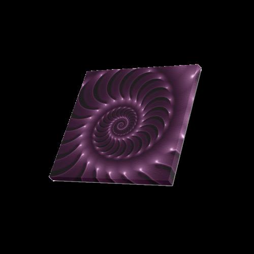 "Glossy Purple Spiral Canvas Print 16""x16"""