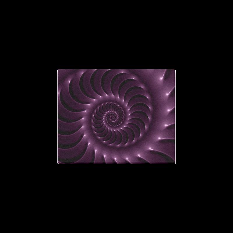 "Glossy Purple Spiral Canvas Print 10""x8"""