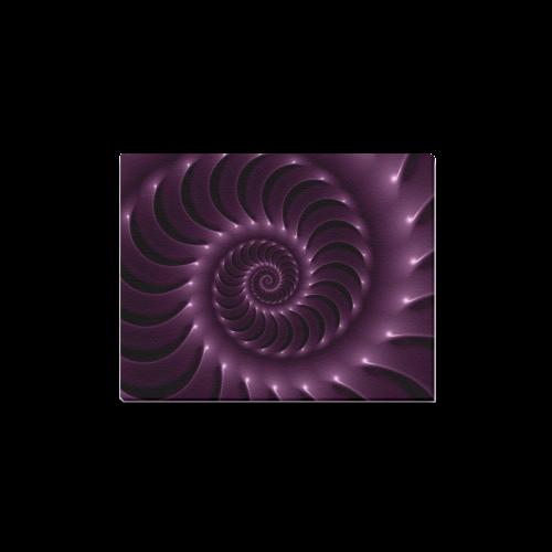 "Glossy Purple Spiral Canvas Print 14""x11"""