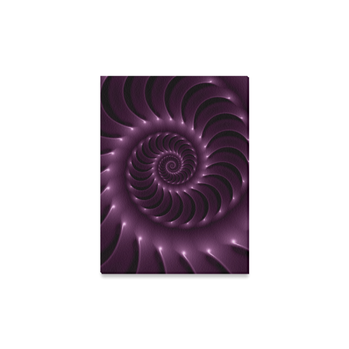 "Glossy Purple Spiral Canvas Print 16""x12"""