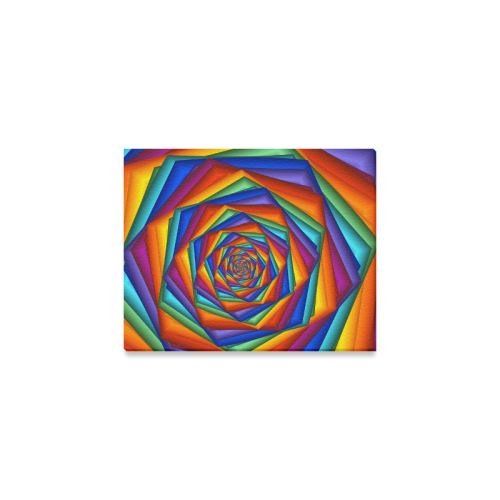 """Psychedelic Rainbow Spiral Canvas Print 10""""x8"""""""