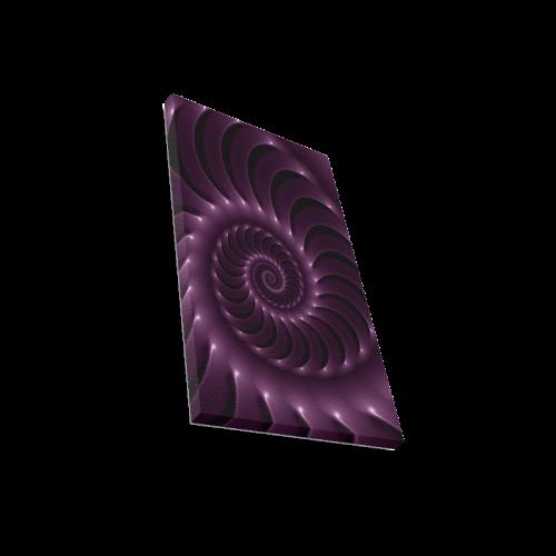 "Glossy Purple Spiral Canvas Print 12""x18"""