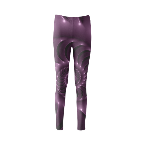 Glossy Purple Spiral Cassandra Women's Leggings (Model L01)