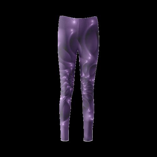 Glossy Purple Spiral Cassandra Women's Leggings (Model L01)