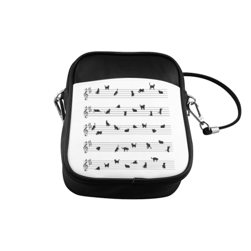 Conceptual Cat Song Musical Notes Sling Bag (Model 1627)