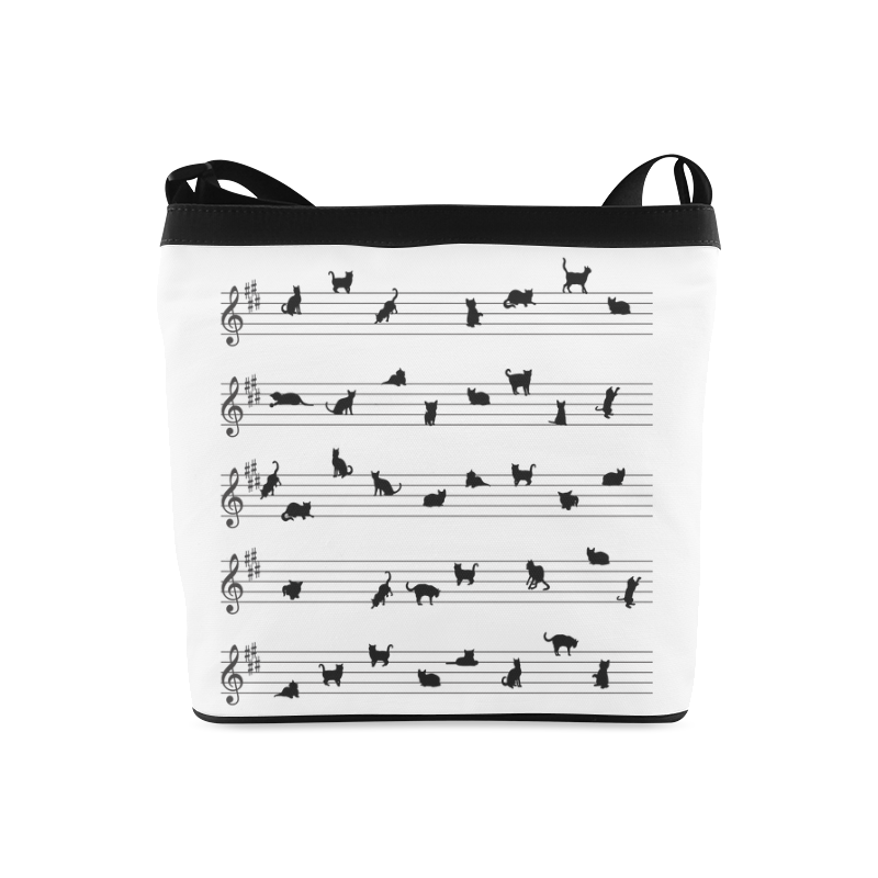 Conceptual Cat Song Musical Notes Crossbody Bags (Model 1613)