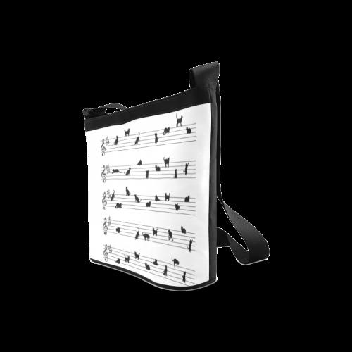 Conceptual Cat Song Musical Notes Crossbody Bags (Model 1613)