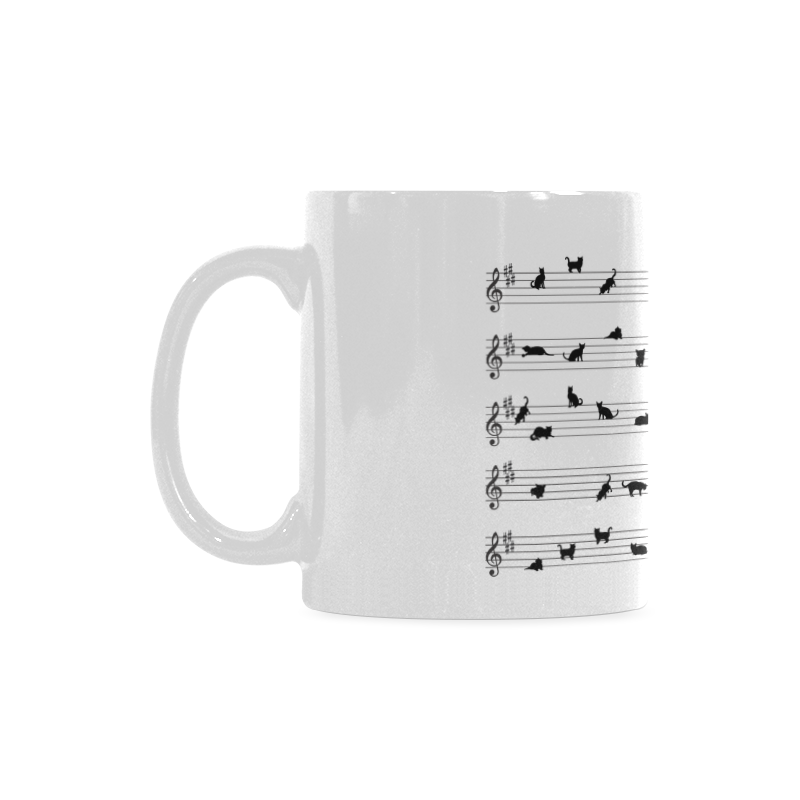 Conceptual Cat Song Musical Notation White Mug(11OZ)