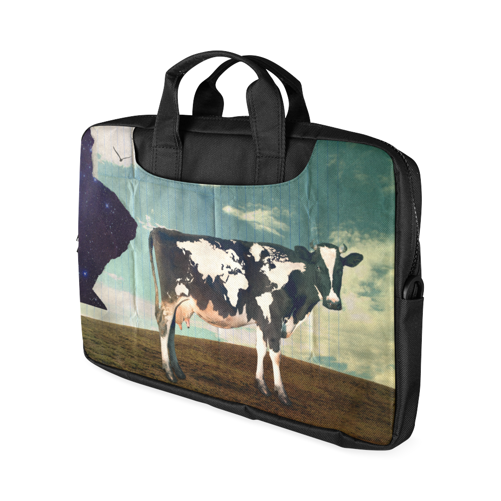 "Surreal Dairy Cow With World Map Macbook Air 13""(Twin sides)"