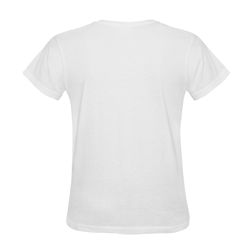 Conceptual Cat Song Music Notation Sheet Music Sunny Women's T-shirt (Model T05)
