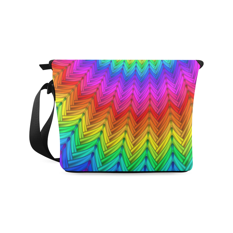 Psychedelic Rainbow Spiral Crossbody Bag (Model 1631)