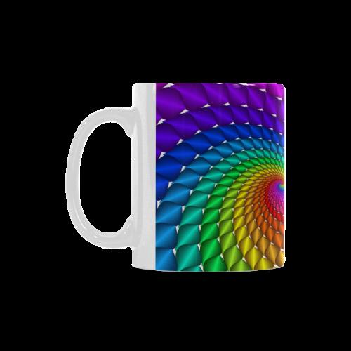 Psychedelic Rainbow Spiral White Mug(11OZ)